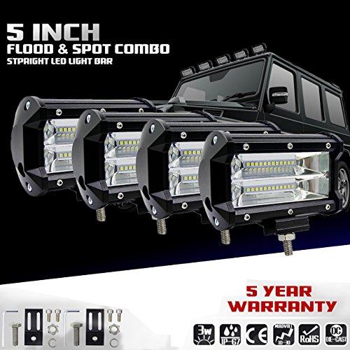 KaTur 5 Zoll 72W LED Lichtleiste Spot Beam 10800LLM Off Road Nebelscheinwerfer LED Fahrarbeitslampe für Lkw-Pickup Jeep Suv ATV Utv 12V 24V Auto-Tagfahrlicht Driving Lights Wasserdicht 4-Pack