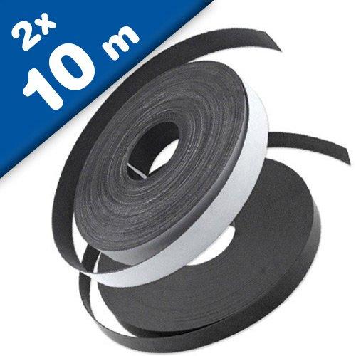 Nastro magnetico adesivo per zanzariere 1,5mm x 25,4mm x 10m set di tipo a e b