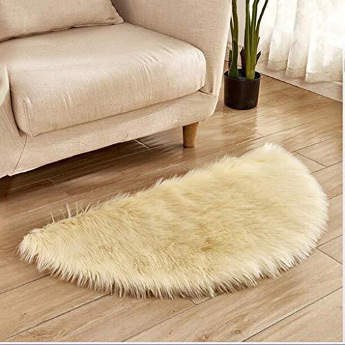 Inooy morbido tappeto soffice, moquette, tappeto in pelliccia sintetica, soggiorno in camera da letto, lussuoso e di lusso,gold