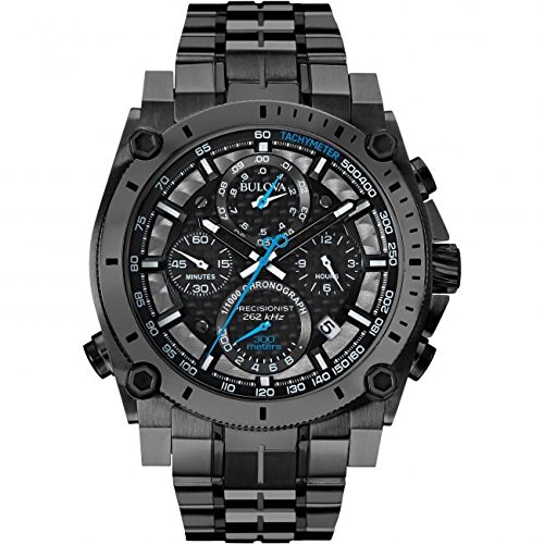 bulova-precisionist-chronograph-mens-quartz-watch-with-black-dial-chronograph-display-and-grey-stain