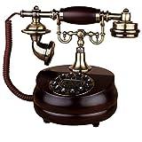 Landline Telefon/Retro- Telefon/europäisches Massivholzdrehentelefon/Antikes Hauptfestnetz/24 * 17 * 24cm (Farbe : B)