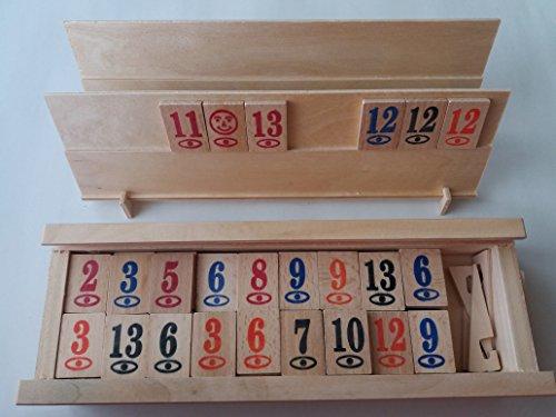Nuevo completo madera rummikub rummy juego juego niños