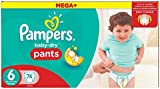 Pampers Mega Plus Baby-Dry Pants, Mega + Pack - Size 6, Pack of 76