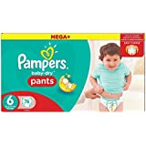 Pampers Baby-Dry Pants, Size 6 (Total 76 Nappies)