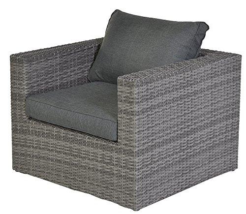 Garden Impressions 13742WF Lounge Chair, Organic Grau, 85,5 x 90,5 x 65 cm