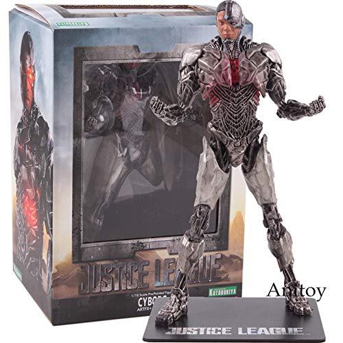 tatue Justice League Cyborg 1/10 Skala vorgemalte Figur PVC Sammler Modell Spielzeug 18cm ()
