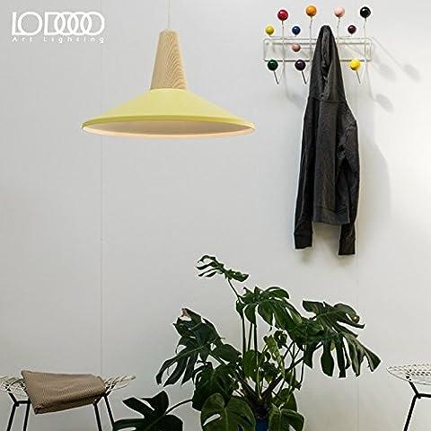 Le luci pendenti Western alloggiamento in alluminio legno solido lampadario lampadario in ferro ,36*23.5cm, giallo