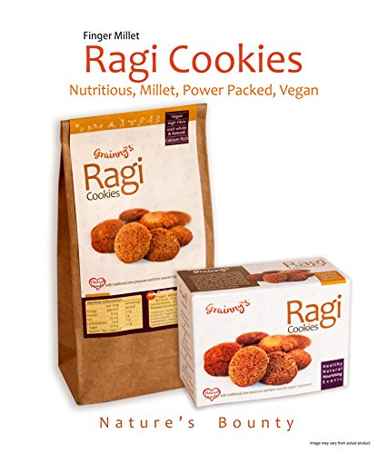 Grainny's Cookies Finger Millet Organic Vegan Ragi Cookies (120 gms.)  available at amazon for Rs.120