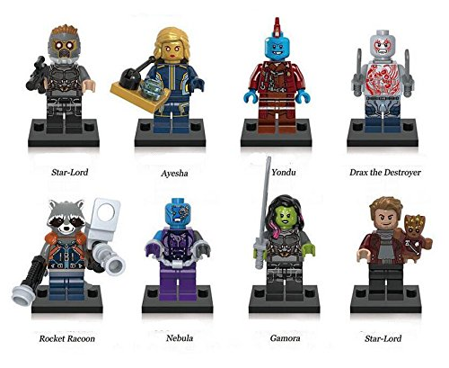 (Guardians of the Galaxy, gotg, Actionfiguren, 8-teiliges Set, passt auf Lego)