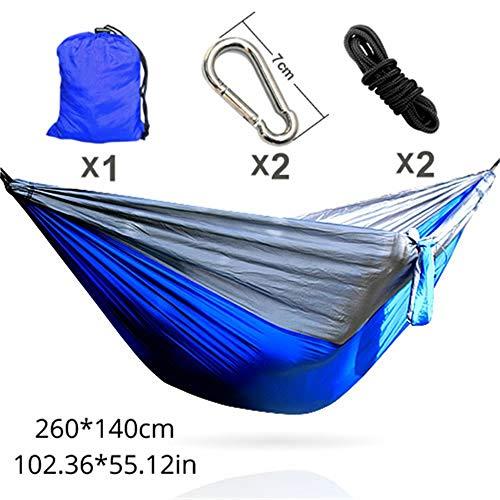 IN THE DISTANCE Camping Hammockhammock Bester Preis für Vereinigte Staaten Epacket Schnelle und effiziente Lieferung von Gütern, Blau