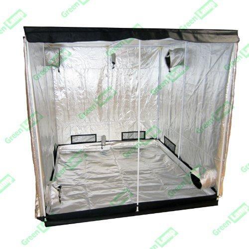 Green Lamp Premium 60 x 60 x 140 cm Noir à revêtement en Mylar 600 D Hydroponics Tente