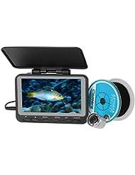 Lixada Enregistreur Vidéo LCD Fish Finder Caméra 140 ° Grand angle Imperméable à l'eau Surveillance Caméra sous-marine Système Kit Recherche de Pêche
