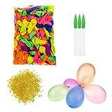 TOAOB Wasserballon Wasserbomben Einschließlich 500 Luftballons 500 Gummibänder und 3 Füllen Instrument für Party