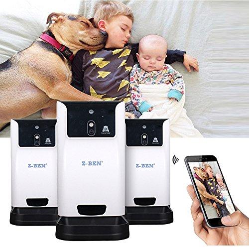 6 L Drahtloser automatischer intelligenter Hundekatzen Zufuhr Haustier Hundekatzen Zufuhr mit dem Realzeitüberwachungs Speicher WEBCAM u. WI FI errichtet in der Hundekatzen Kamera für Video Anteil (Wifi-webcams)