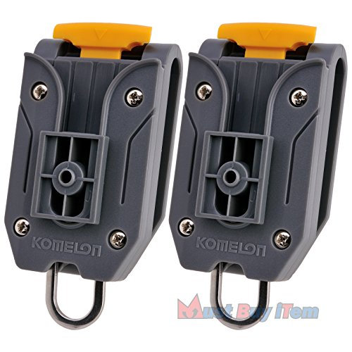 t 2 Stück Universal-Komelon Maßband Gürtel Clip-Halter mit Werkzeug Aufhänger Ring für Ingenieure Messwerkstückträger Lagerung 1 ()