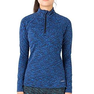 H.MILES Women Thermal Long Sleeve Running Top 1/4 Zip Winter Workout Ladies Hoody 3