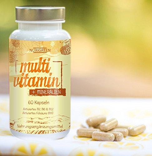 Multivitamin Tabletten hochdosiert A-Z Komplex – 23 Vitamine + Mineralien – Monatskur zur Stärkung vom Immunsystem und Wohlbefinden – vegan multimineral Kapseln als Nahrungsergänzung