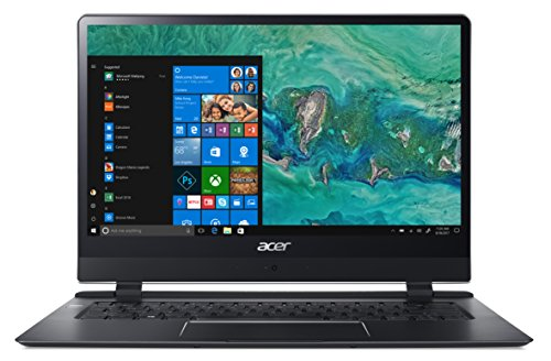 "Foto Acer Swift 7 SF714-51T-M3EW Notebook con Processore Intel Core i7-7Y75, RAM 8 GB DDR3, 256 GB SSD, Display 14"" FHD IPS Multi-touch, Scheda Grafica Intel HD Graphics 615, LTE, Windows 10 Pro, Nero"