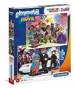 Clementoni 21611 Clementoni-21611-Supercolor Playmobil The Movie-2 x 60 Piezas, Puzzle para niños