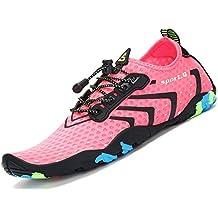 katliu Zapatos de Agua Mujer Hombre Escarpines para Surf Piscina Playa Yoga Deportes  Acuáticos 4300f2dcfbc