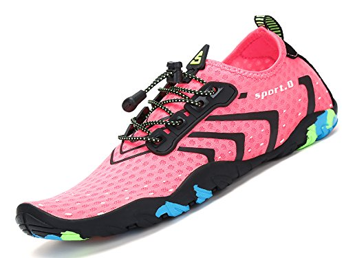 Pastaza Wasserschuhe Schwimmschuh Schnell Trocknend Badeschuhe Strandschuhe Wassersport Schuhe für Damen Frauen Rosa, 36 EU