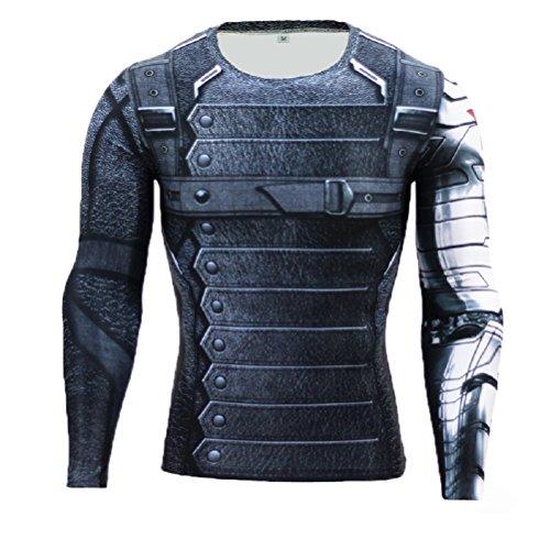 Samanthajane Clothing - Camiseta - para Hombre Winter Soldier Longsleeve 2c89b021c877
