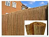 Natural Peeled Reed Screening Roll Garden Screen Fence Fencing Panel 4m (1m  x  4m) - DREAMS VILLA - amazon.co.uk