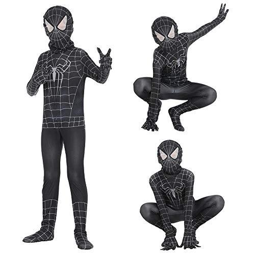 CTAO Spider-Man Halloween Kostüm Overall 3D Print Spandex Lycra Venom Spiderman Weit Weg Von Zu Hause Für Erwachsene Und Kinder Spider-Man -S/for Kid (Wie Man Den Marvel-weg)