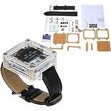 KKmoon SCM impresionante reloj LED transparente DIY LED tubo digital reloj de pulsera reloj electrónico kit