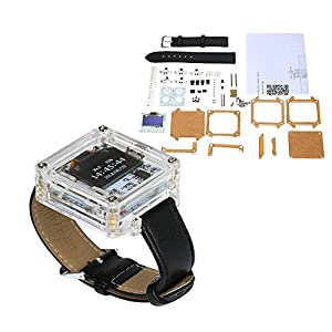 KKmoon SCM Ehrfürchtige Transparente LED Uhr DIY LED Digital Rohr Armbanduhr Elektronische Uhr DIY Kit