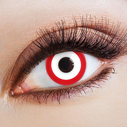 Halloween Kostüme Date (aricona Farblinsen Farbige Kontaktlinse Zombie Date   – Deckende Jahreslinsen für dunkle und helle Augenfarben ohne Stärke, Farblinsen für Karneval, Fasching, Motto-Partys und Halloween)