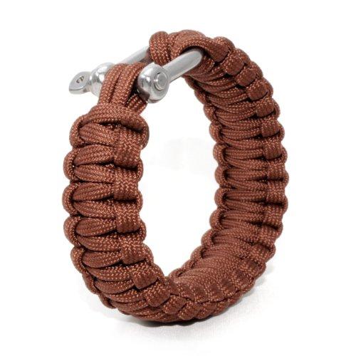 Universell einsetzbares Survival-Seil (kompakt zum Armband geflochten) aus reißfestem