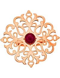 Ahilya jewels Imperial Filigree Collection 925 Silver Rose Gold Plated Ring