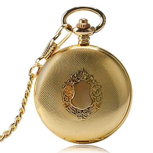 Exquisite Golden Royal Shield Taschenuhren für Herren, Automatische Mechanische Taschenuhr, Geschenk