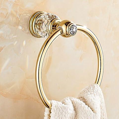all-Kupfer/Kristall Handtuchring/Ring Handtuchhalter/Continental Handtuch hängen Ring-B