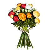 Mica decorations 964825 Renoncule Bukett L35D26 Orange Blumenstrauss, Orange Bunt, 26 x 26 x 35 cm