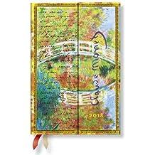 Paperblanks - Faszinierende Handschriften Monet Die Brücke, Briefe an Morisot - Kalender 2018 Mini Horizontal - deutschsprachige Ausgabe