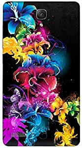 Good Looking 3D multicolor printed protective REBEL mobile back cover for Redmi Note - D.No-DEZ-2128-redmi