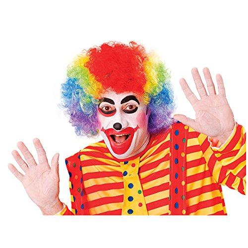 Bunte Perücke Clown Clownsperücke Harlekin Spassmacher