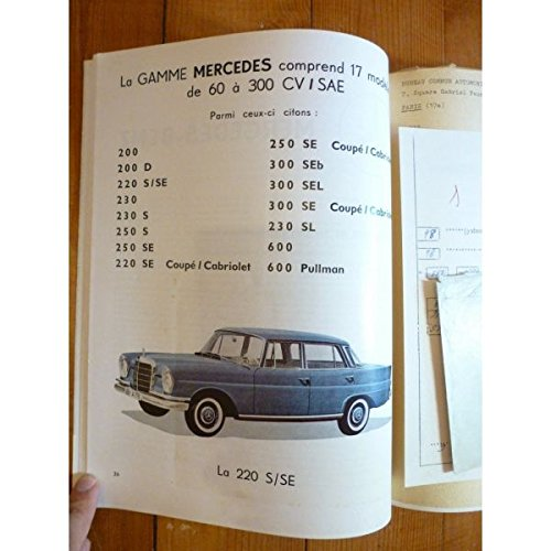 REVUE TECHNIQUE EXPERT AUTOMOBILE MERCEDES-BENZ 220 200D 220S /SE 230 230S 250S ...