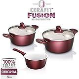 Genius - Cerafit Fusion Topf Set 5-tlg. Rubinrot