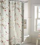 LNPP Europ?ische Art Blumen-Muster-Polyester-Gewebe-Badezimmer-Duschvorhang wasserdicht und Schimmel-best?ndig, 220*200cm