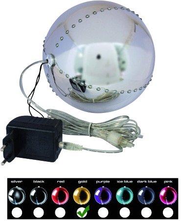 LED Snowball 15cm, gold