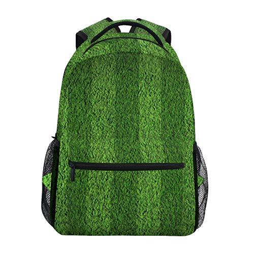 Rucksack Rucksack Perfekt für Schulreisen Fußball Gras Streifen Feld Kindertagesstätte für Teenager Jungen Mädchen -