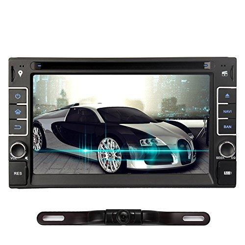 Dvd-spieler Doppel-din-gps (NAVISKAUTO Windows CE 6.0 Double Din Autoradio DVD Player Spieler Stereo Touch Screen GPS-Navigation Unterstützt Bluetooth FM AM Radio Subwoofer Rückfahrkamera Externe TV Box Lenkrad-Steuerung (W0237+Y0812))