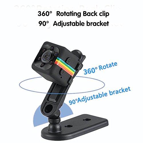 Pawaca Mini Camera HD SQ11 Microcamere Spia per visione notturna 1080P Sport Mini DV Videoregistratore Telecamera per auto a infrarossi Rilevatore di movimento - 9