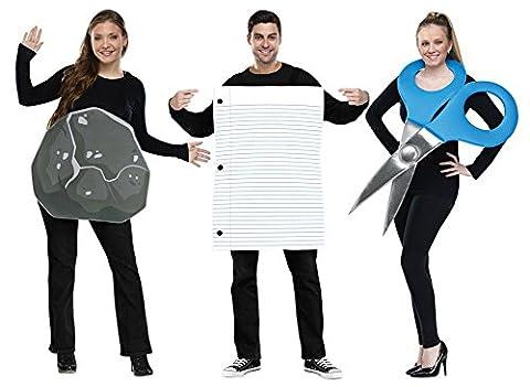 Rock Paper Scissors Gruppe Kostüm-Set Game 3Trio Kostüme Halloween Erwachsene Fancy Kleid (Trio Von Halloween-kostüme)
