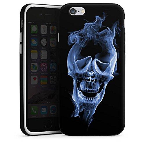 Apple iPhone 5s Housse Étui Protection Coque Halloween Crâne Fumée Housse en silicone noir / blanc