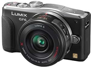Panasonic DMC-GF6XEG9K LUMIX Systemkamera (16 Megapixel, 7,6 cm (3 Zoll) LCD-Display, Full HD) inkl. H-PS14042AE-K Lumix Powerzoom Objektiv schwarz