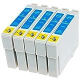 AfiD 5er Set Druckerpatronen zu EPSON T0712 für Epson Stylus SX 405, Epson Stylus SX 410, Epson Stylus SX 415, Epson Stylus SX 417, Epson Stylus SX 510, Epson Stylus SX 515, Epson Stylus SX 600, Epson Stylus SX 610 und mehr!